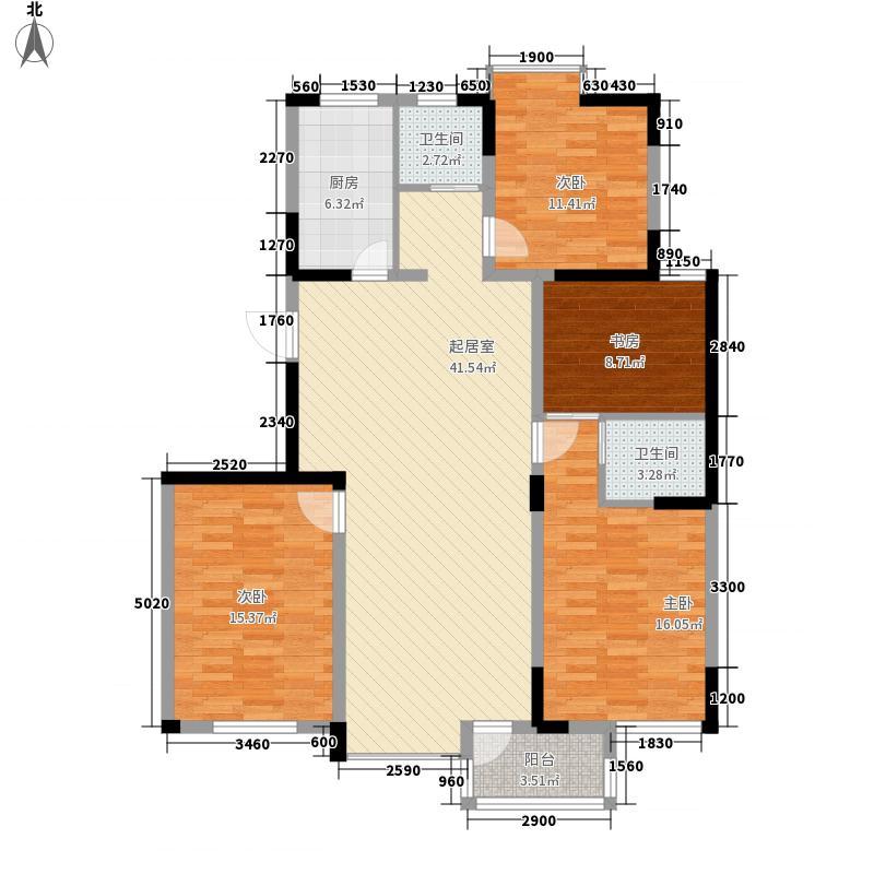 长江绿岛三期153.60㎡长江绿岛三期户型图B94室2厅2卫户型4室2厅2卫