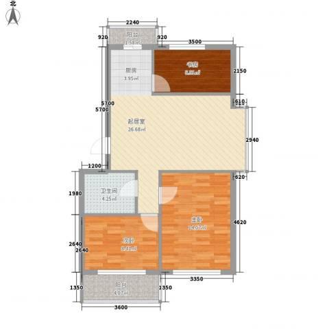 朗悦华园3室0厅1卫0厨92.00㎡户型图
