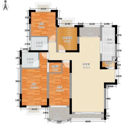 都市阳光3室0厅2卫1厨145.00㎡户型图