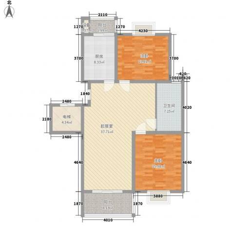 西欧名邸2室0厅1卫1厨110.00㎡户型图