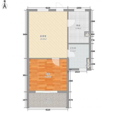 上坤公园天地1室0厅1卫1厨73.00㎡户型图