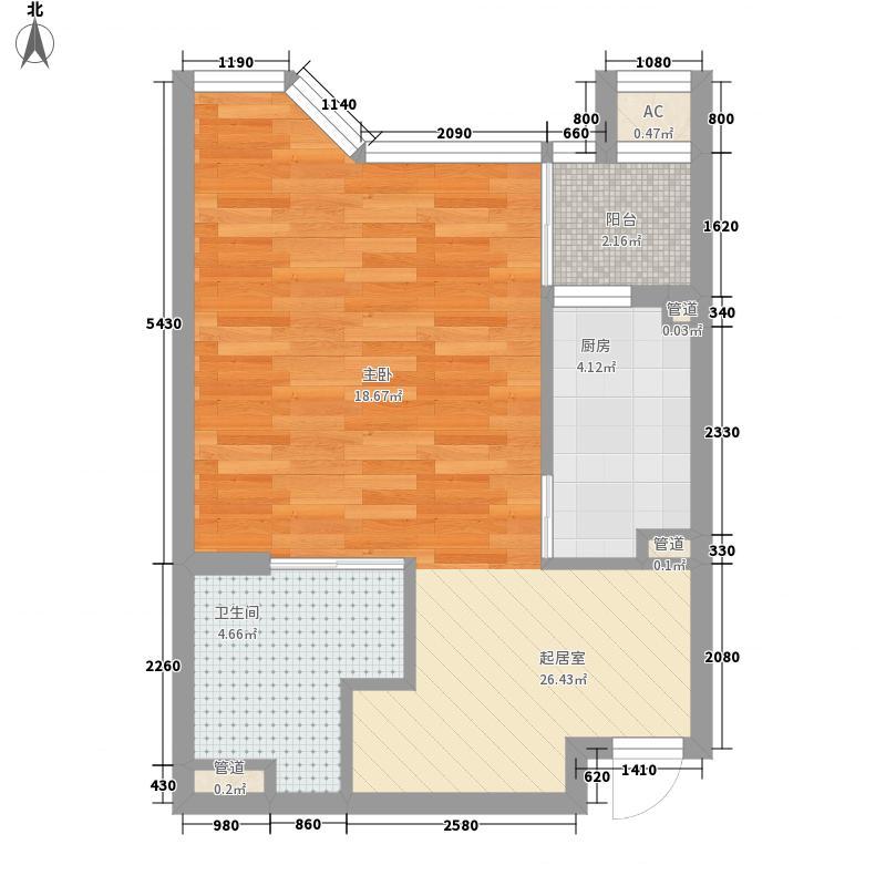 香悦水岸54.85㎡香悦水岸户型图C户型1室1厅1卫1厨户型1室1厅1卫1厨
