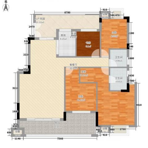 圣莫丽斯三期4室1厅2卫1厨167.00㎡户型图