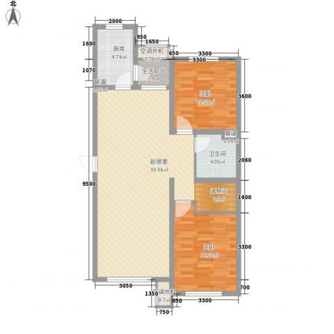 南郡水�天三�2室0厅1卫1厨101.00㎡户型图