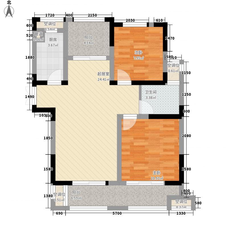 和泰・国际广场5.00㎡一期9号楼G户型3室2厅1卫1厨