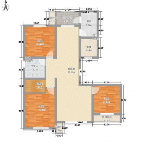 南郡水�天三�3室0厅1卫1厨121.00㎡户型图