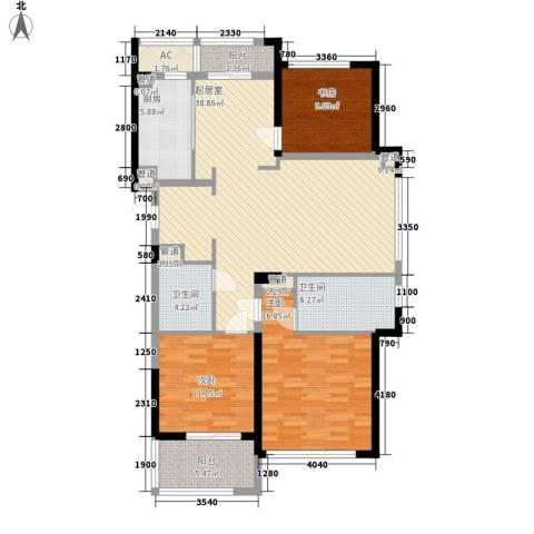 绿城锦绣兰庭3室0厅2卫1厨146.00㎡户型图