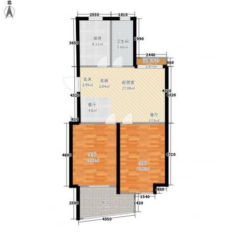 名桂坊2室0厅1卫1厨90.00㎡户型图