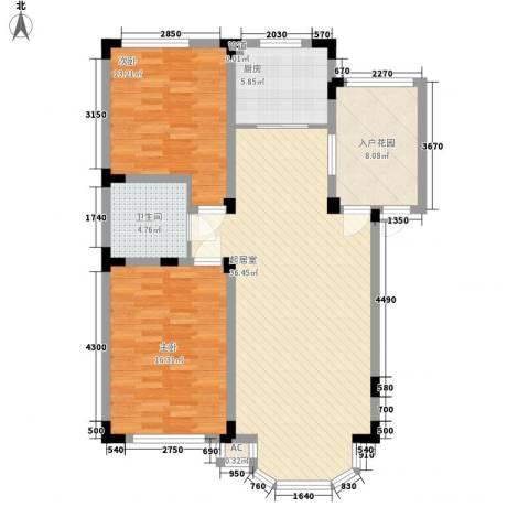 沈工科技园2室0厅1卫1厨120.00㎡户型图