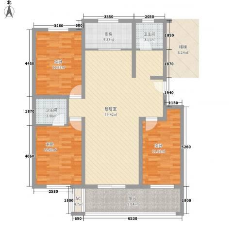 都市阳光3室0厅2卫1厨139.00㎡户型图