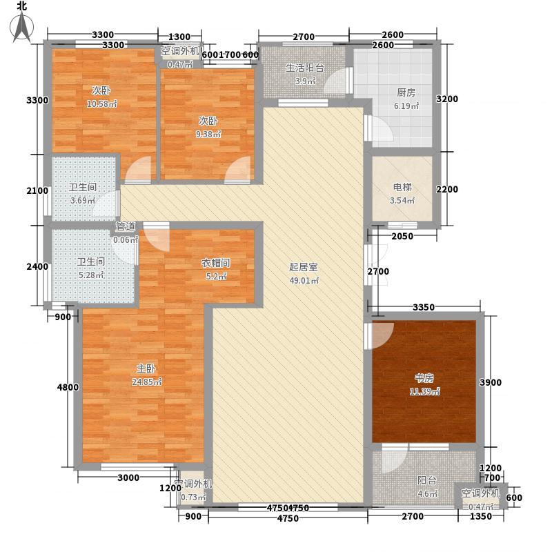 南郡水�天三�168.77㎡南郡水云天3号户型图(10#)A1户型图4室2厅2卫1厨户型4室2厅2卫1厨