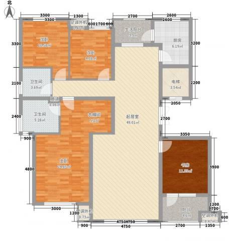南郡水�天三�4室0厅2卫1厨169.00㎡户型图