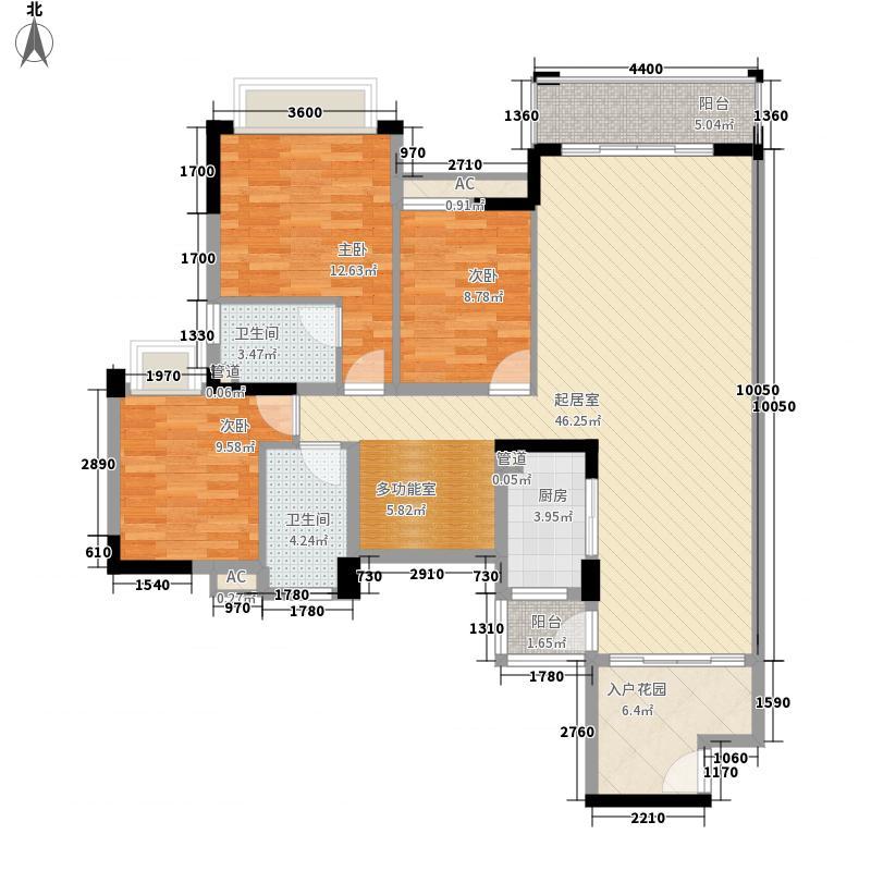 香堤水岸133.38㎡香堤水岸户型图01/02单元4室2厅2卫1厨户型4室2厅2卫1厨