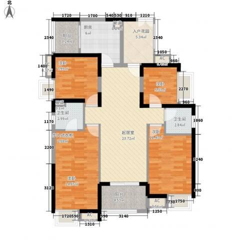 世纪城幸福公馆4室0厅2卫1厨142.00㎡户型图