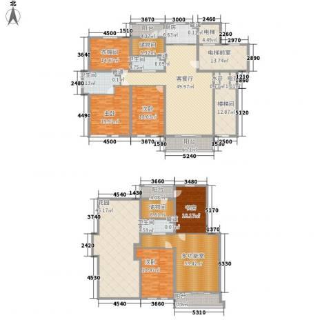 盛世香湾4室1厅3卫1厨307.68㎡户型图