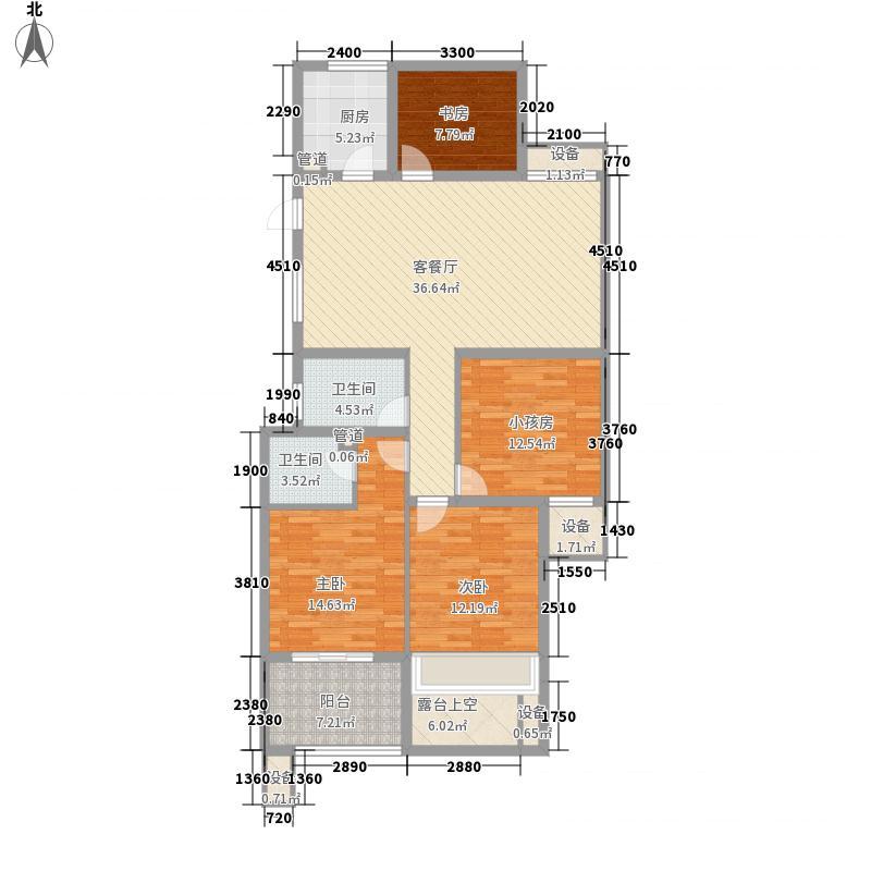 华宇・城市之星135.00㎡A3偶数层户型3室2厅2卫1厨