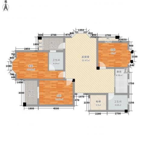 阳光大厦3室0厅2卫1厨115.00㎡户型图