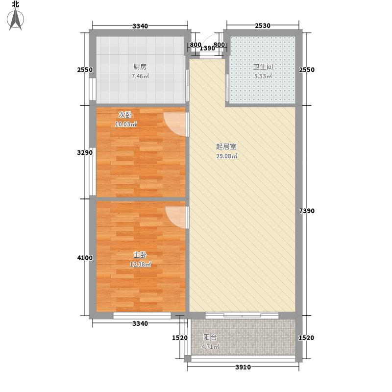 融城假日阳光6.27㎡7#B户型2室2厅1卫1厨