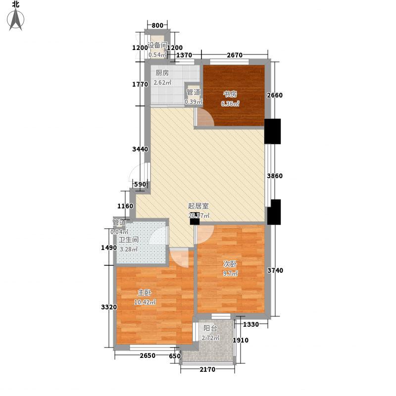 西郊棠梨园80.53㎡西郊棠梨园户型图3室2厅1卫1厨户型10室