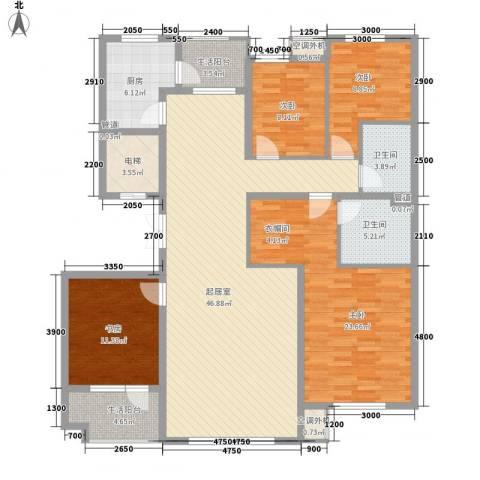 南郡水�天三�4室0厅2卫1厨161.00㎡户型图
