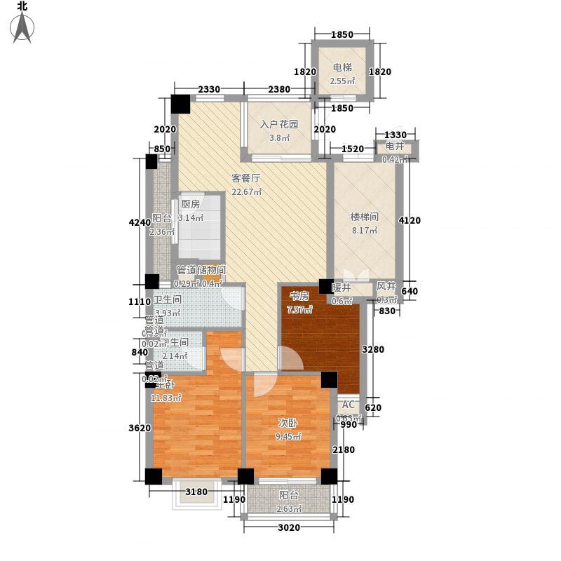 银河世家13.00㎡户型2室2厅2卫1厨