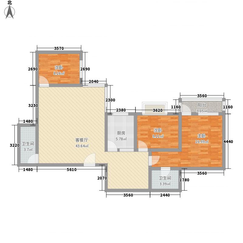 苑林星月湾107.73㎡苑林星月湾户型图3室2厅2卫1厨户型10室