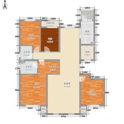 南郡水�天三�4室0厅2卫1厨159.00㎡户型图