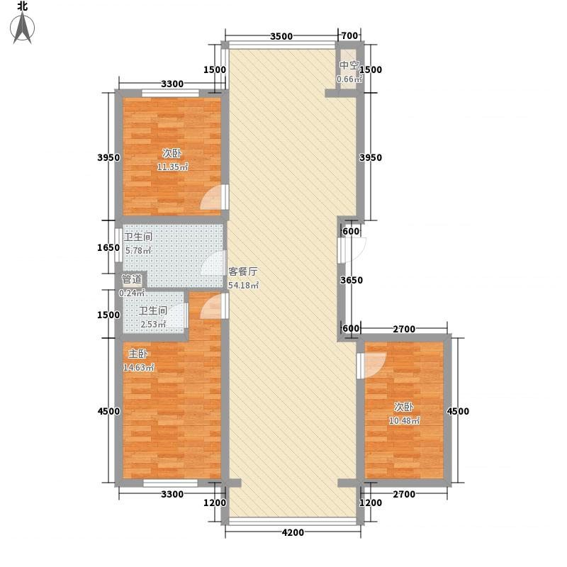 中凯西苑139.83㎡B户型(小高层)户型3室2厅2卫1厨