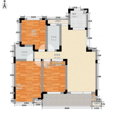 和园3室0厅2卫1厨127.00㎡户型图