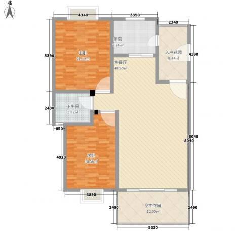 市府小区宿舍2室1厅1卫1厨170.00㎡户型图