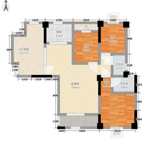 幸福源3室0厅2卫1厨116.00㎡户型图
