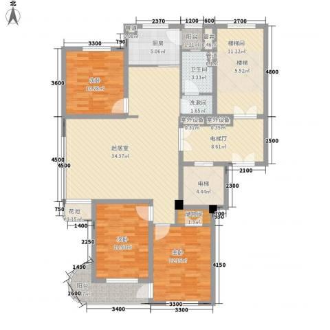 腾龙雅苑3室0厅1卫1厨137.00㎡户型图