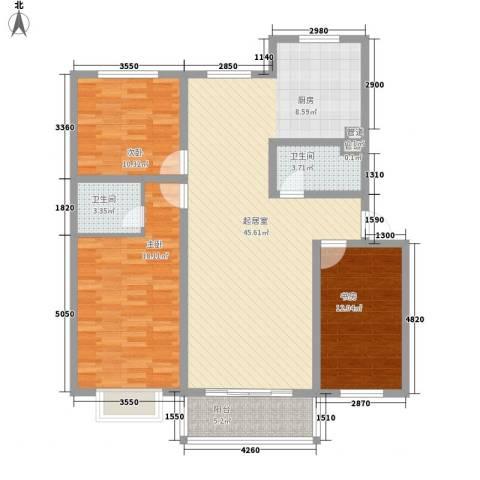 上国佳苑3室0厅2卫0厨140.00㎡户型图