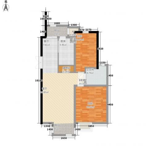 亿城山水颐园2室0厅1卫1厨107.00㎡户型图