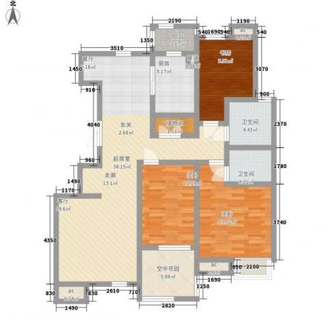 亿城山水颐园3室0厅2卫1厨141.00㎡户型图