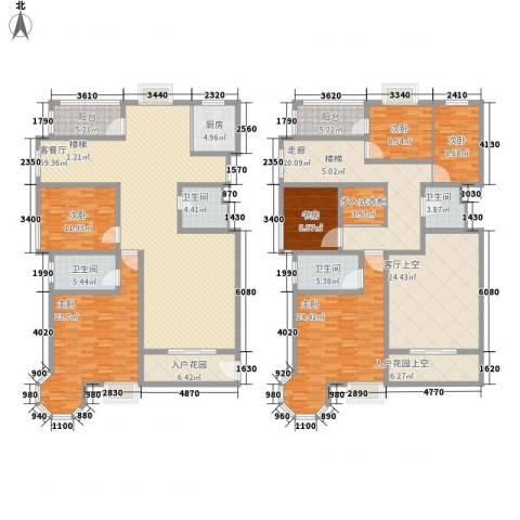 香格里拉・水岸绿城6室1厅4卫1厨345.00㎡户型图