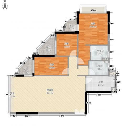碧水明筑3室0厅2卫1厨140.00㎡户型图