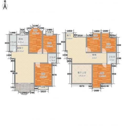 香格里拉・水岸绿城6室2厅3卫1厨230.00㎡户型图