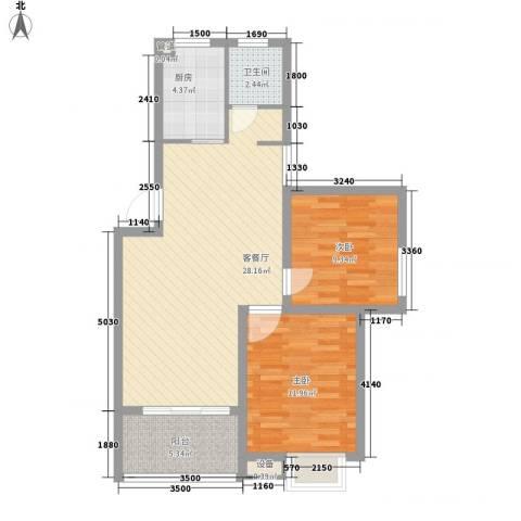 兴源家园2室1厅1卫1厨89.00㎡户型图
