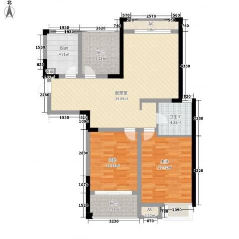 天成雅居2室0厅1卫1厨110.00㎡户型图