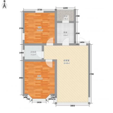庐州小区2室0厅1卫1厨89.00㎡户型图