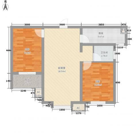 庐州小区2室0厅1卫1厨90.00㎡户型图