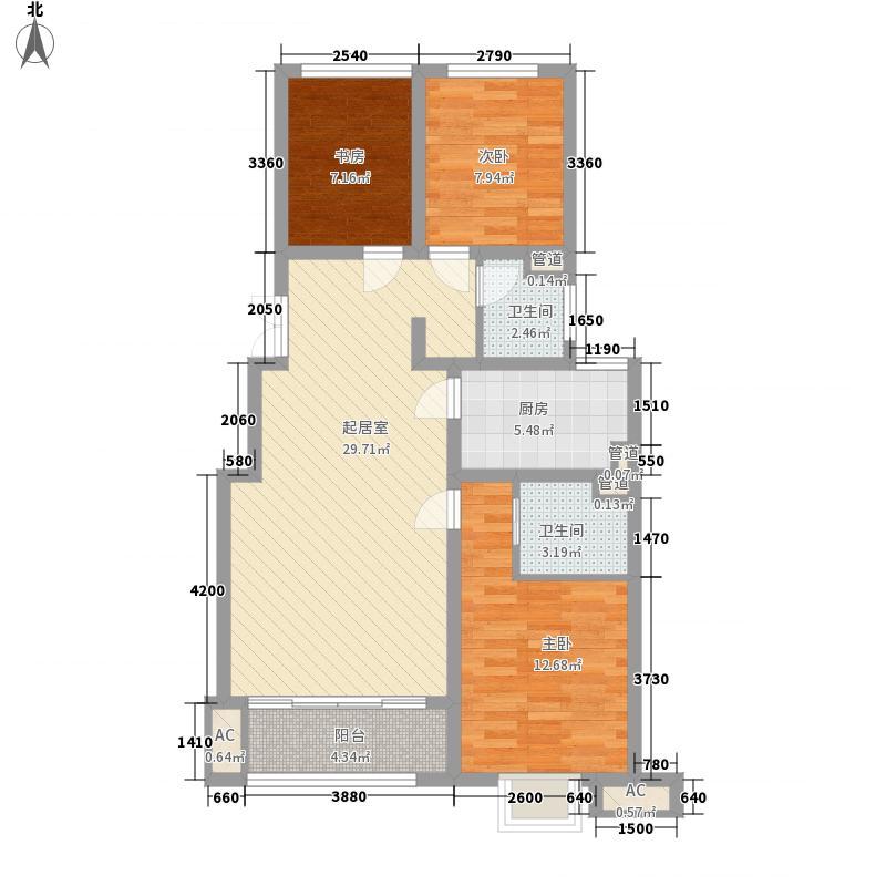 御珑湾109.00㎡B户型乐园户型3室2厅2卫1厨