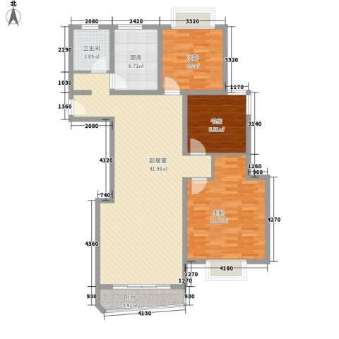 新洲人家3室0厅1卫1厨130.00㎡户型图