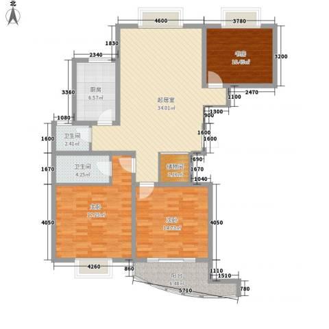 新洲人家3室0厅2卫1厨140.00㎡户型图