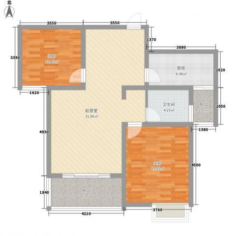 618研究所2室0厅1卫1厨110.00㎡户型图