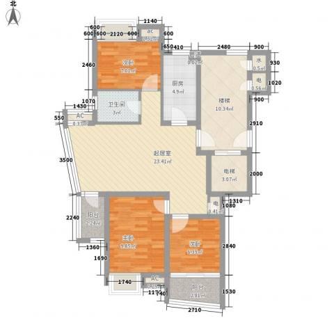 金帝城市别墅3室0厅1卫1厨112.00㎡户型图