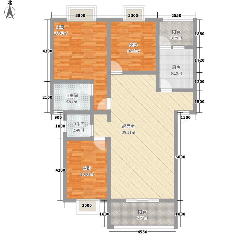 人和天地户型图D 3室2厅2卫