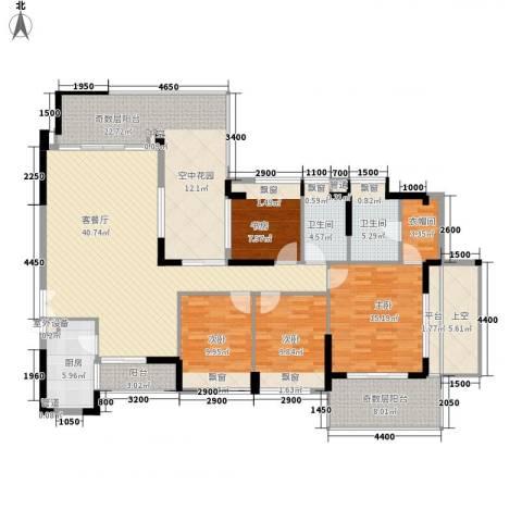 城投・七里香榭4室1厅2卫1厨205.00㎡户型图