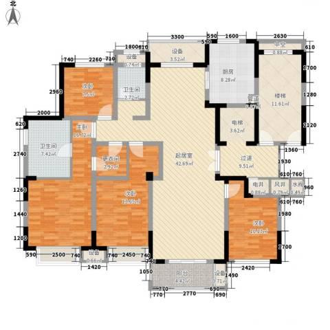 塞纳蓝湾4室0厅2卫1厨160.00㎡户型图